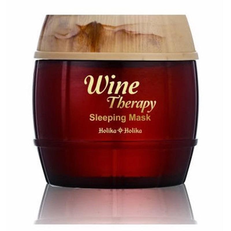 HOLIKA HOLIKA Vinska terapija Paket za spavanje 120ml Maska za izbjeljivanje kože Vlažeća maska za njegu lica protiv starenja kože 1kom