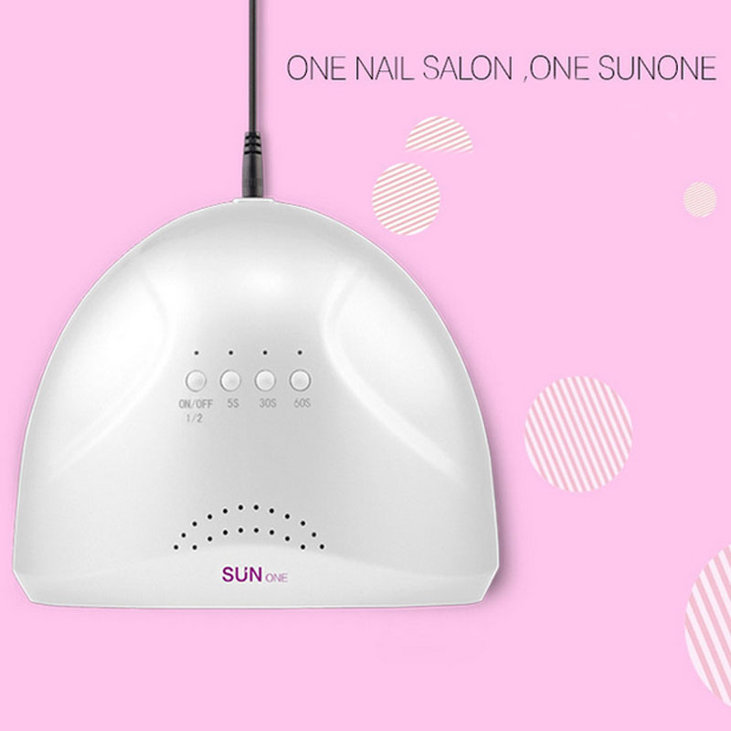 2017 New Brand SUNone Adjustable 24/48W UV Lamp Gel Nail Dryer White Light UV LED Lamp Nail Dryer Curing Polish Machine brand new a155 6 48 288