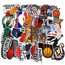30pc/Lot Brand Basketball NBA Logo Stickers For Luggage Suitcase Skateboard Motor Car Pegatinas Adesivi Waterproof Stickers Cool(China)
