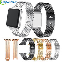 HANGRUI Stainless Steel Watchband For Apple Watch Strap 38 42mm Series 1 2 3 Wristwatch Band