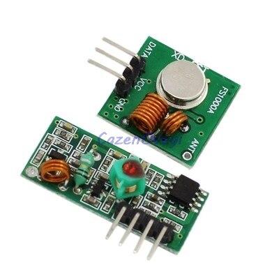 10 шт./лот, 5 пар, 433 МГц, радиочастотный передатчик, приемник, комплект для/ARM/MCU WL diy 433 МГц, беспроводной