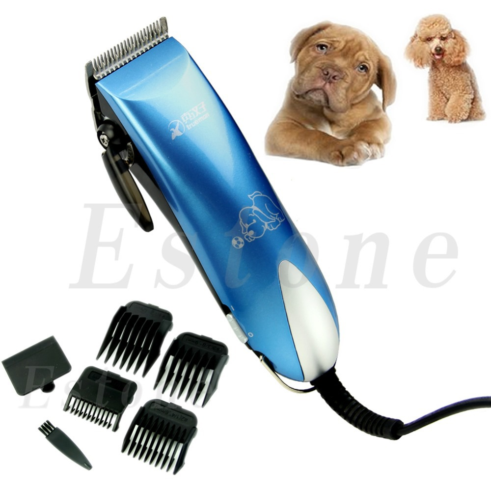 Low-noise Electric Animal Pet Dog Cat Hair Razor Grooming Clipper Trimmer professional 24w pet dog hair trimmer ceramic head clipper animal electric cat grooming hair cutter shaver razor w comb brush