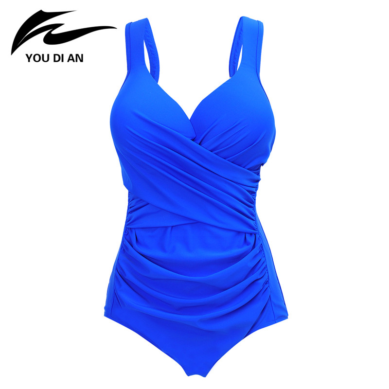 2017 New One Piece Swimsuit Retro Vintage Plus Size Swimwear Women Sexy Bathing Suit Swimwear Beachwear Monokini one piece swimsuit cheap sexy bathing suits may beach girls plus size swimwear 2017 new korean shiny lace halter badpakken