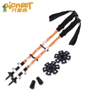 7075 Aluminum Alpenstock Manufacture price quick lock EVA HANDLE climbing sticks nordic walking sticks trekking hiking poles