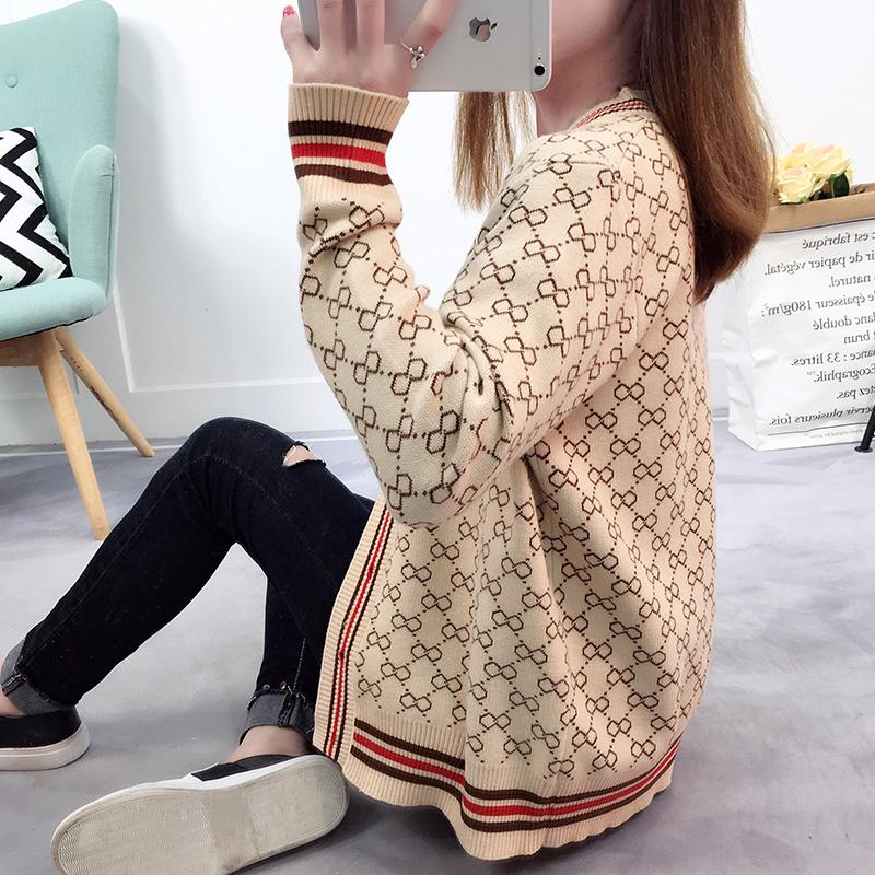 Women Spring Sweater With Buttons Long Sleeve Autumn Knitted Cardigan Ladies Fashion 2018 New Arrival Oversize Cotton Sweaters