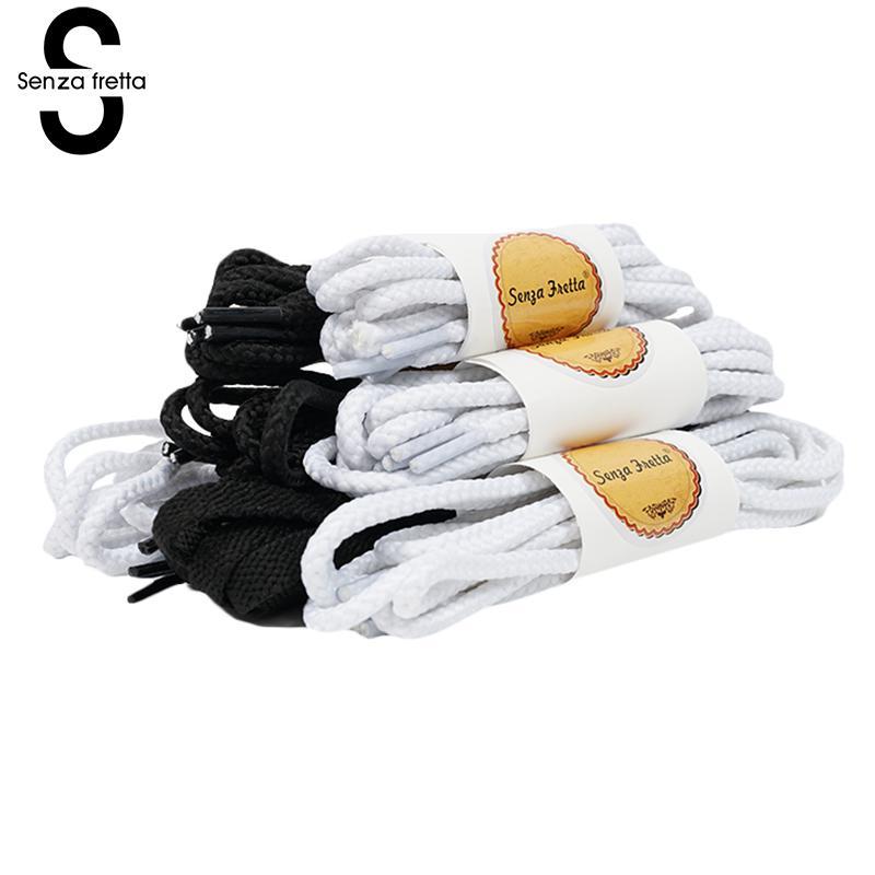 Senza Fretta 1 Pair Shoe Laces Round Cord Canvas Shoes Unisex Shoelaces Shoe String Strap Shoe Laces 80/100/120/140cm Shoelace цена