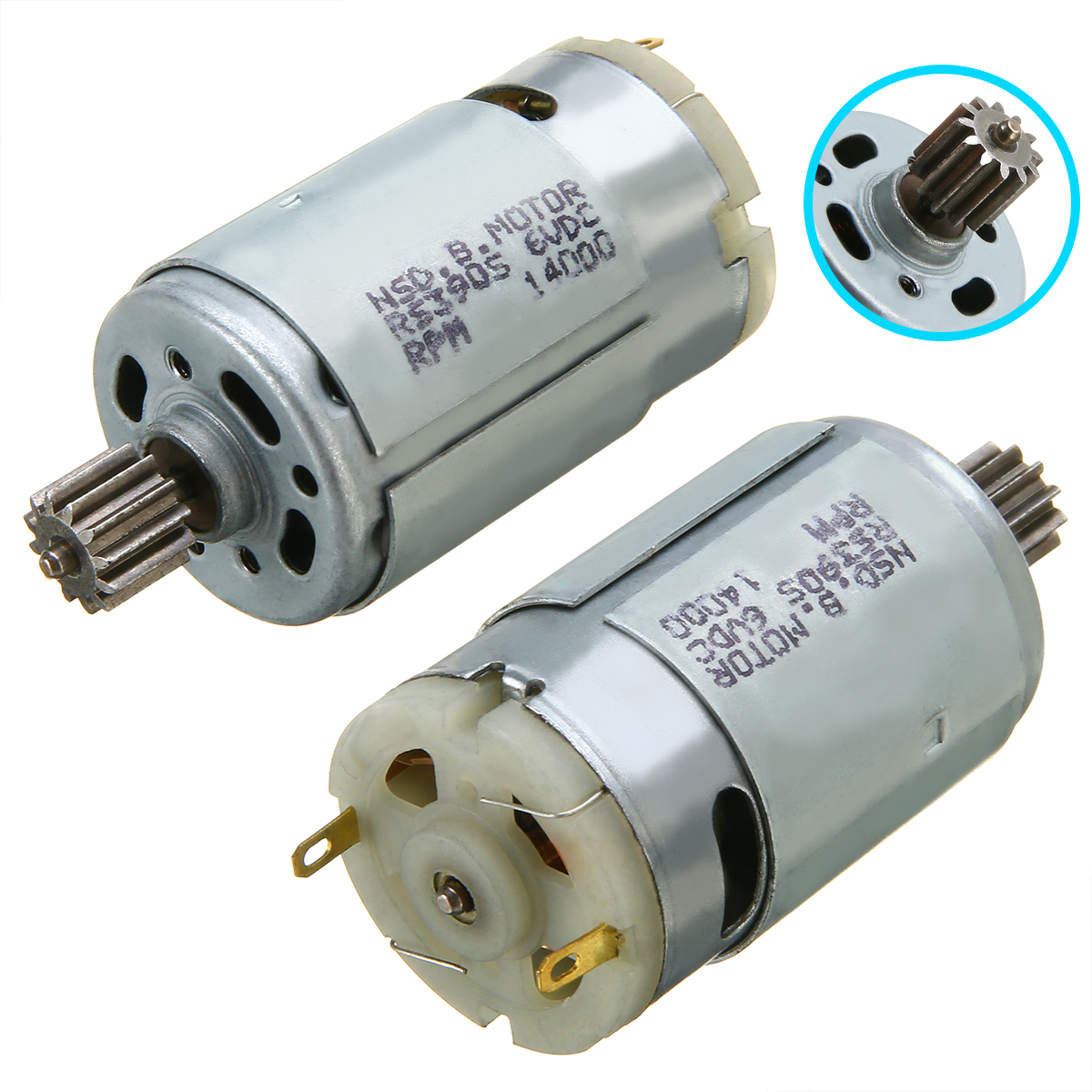 1pc RS390 Kid Car Motor 6V 14000RPM Electric Motor 25-35W For Kid Ride On Car Bike Toy Gear Box Motor 70x28mm запчасти для детского транспорта motor 6v 12v rs390
