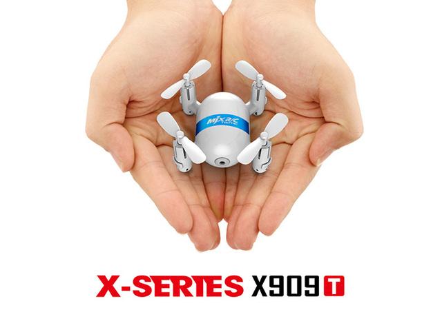MJX X909T X-SERIEX Mini 5.8G FPV Con Cámara HD 3D Voltea una Tecla de Retorno Modo RTF RC Quadcopter Con Mando a distancia 2