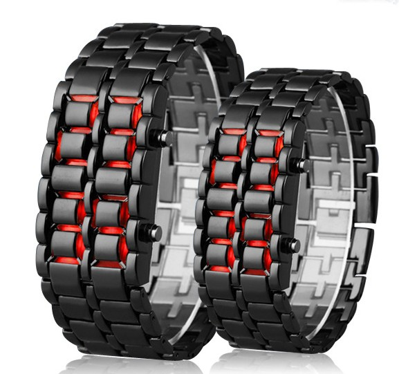 DIFONEY Full Stainless Steel Lovers' Led Wristwatch Luxury Men Women Sport Watches Fashion Ladies Dress Watch Relogio Masculino