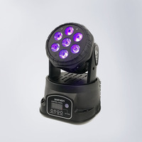LED Wash 7x18W RGBWA+UV Moving Head Lighting Sound Active Christmas Decorations DMX 512 LED Stage Light