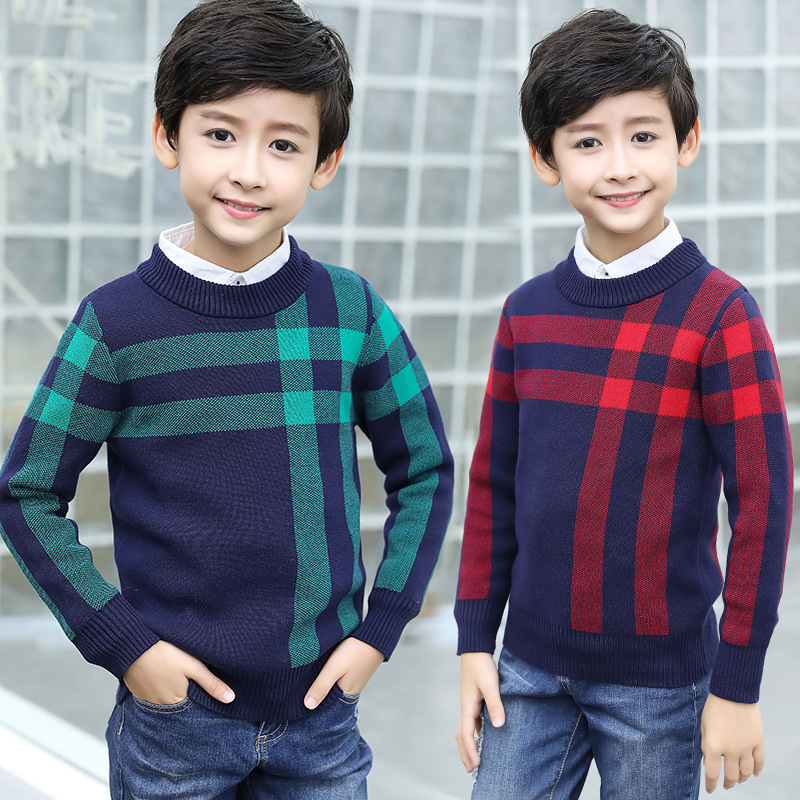 Winter Cotton products clothing Boy's Sweater O-Neck pullover Sweater  Kids clothes children's Sweater winter Keep warm 5