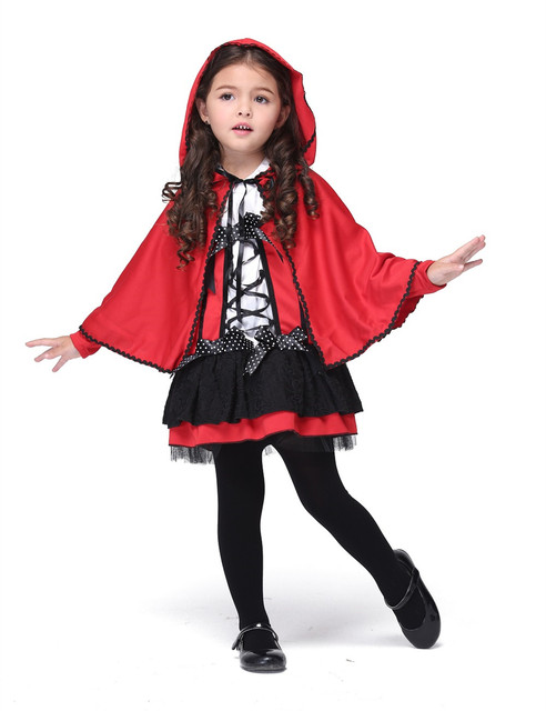 Fille Little Red Riding Costume Halloween Costume Pour Enfants Stage