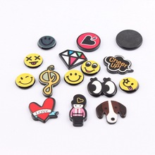 New Fashion Acrylic Patch Lovely Girl Gift Children Cute fashion expression Badge Wholesale For Hair Ornaments Patch