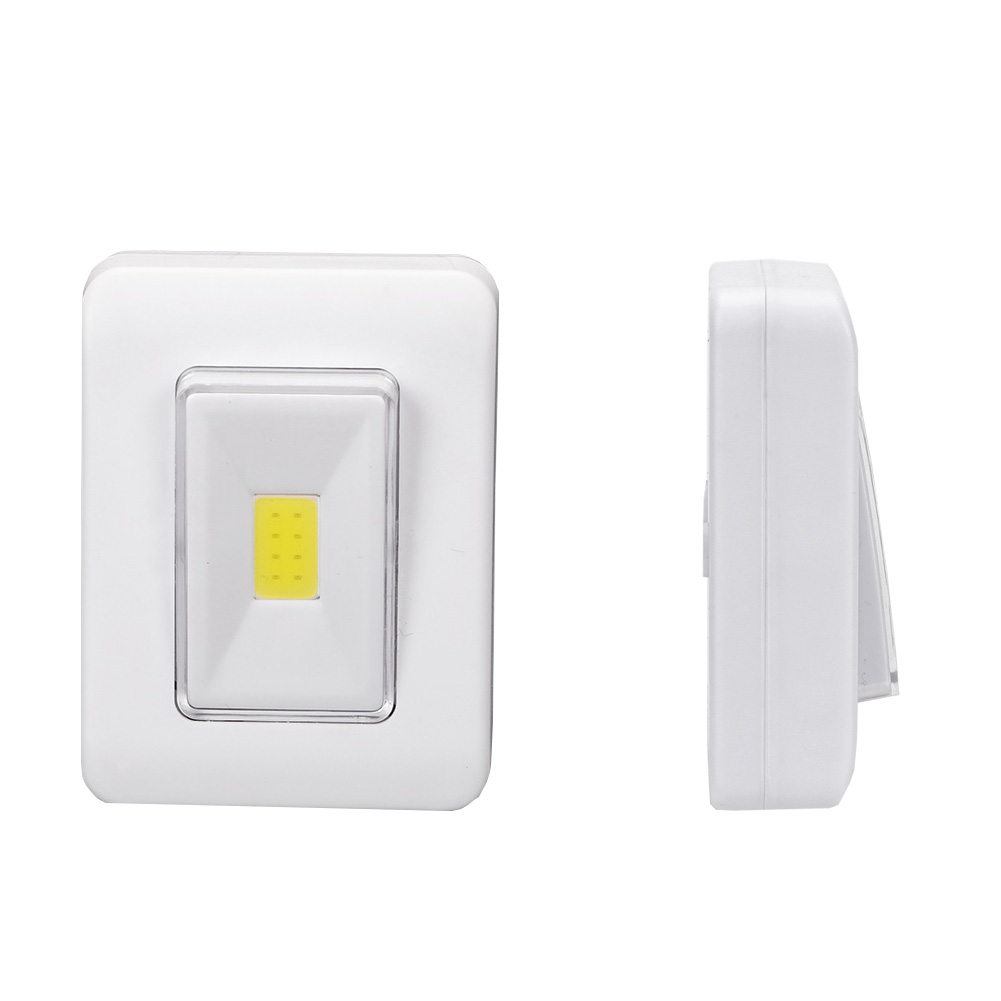 COB Magnetic Switch LED Night Light Battery Operated Cordless Night Lamp Under Cabinet Wardrobe Light With Magnetic&Sticker cob led wall lamp rotary switch night light adjustable wireless closet cordless lamp battery operated wardrobe light