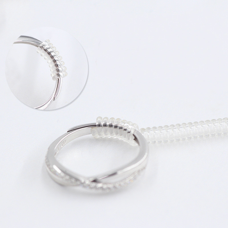 10 PCS 10cm Ring Size Tightener Reducer Resizing Tools Jewelry Parts Spiral Adjuster For Any Rings