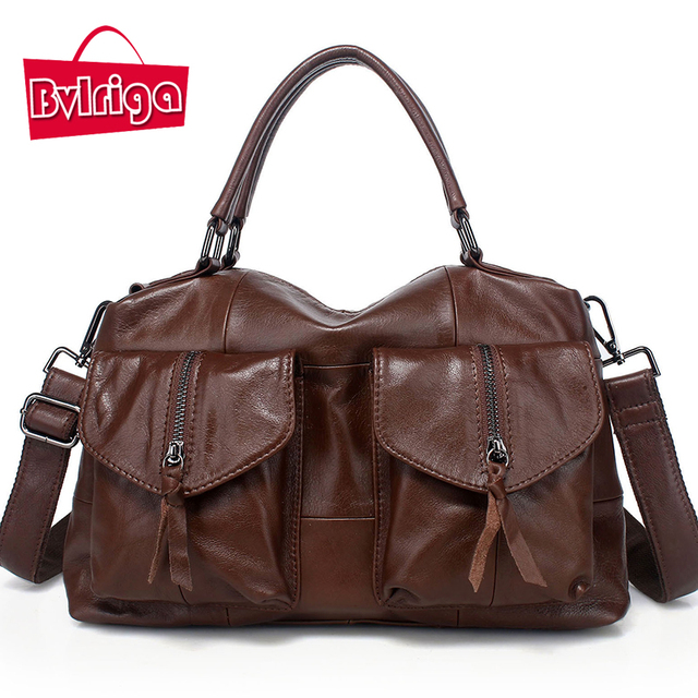 BVLRIGA Vendimia bolsas mensajero de las mujeres de lujo bolsos de las mujeres bolsas de diseñador bolso de cuero genuino grande famosa marca bolsa feminina