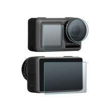 3 adet HD temperli cam koruyucu film Lens ekran patlamaya dayanıklı film DJI OSMO için eylem spor kamera aksesuarları