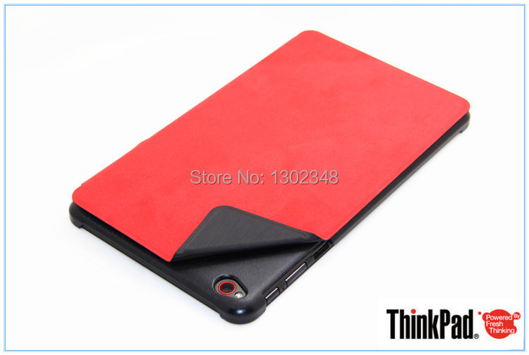 Ultra Slim PU leather With PC Back Smart Stand Book Case Protective Sleeve Cover for Lenovo Thinkpad 8 Thinkpad8 8.3'' Tablet protective pu leather pc back case for iphone 5 5s deep pink