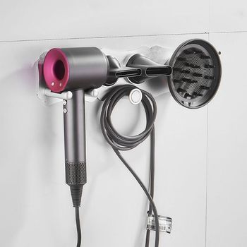 Hairdryer Holder Wall Mounted Storgae Rack Bathroom Shelf For Dyson Supersonic Hair Dryer l29k