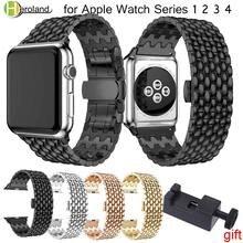 Роскошный ремешок для часов из нержавеющей стали apple watch