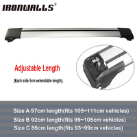 Ironwalls 1x Car Roof Rack Cross Bar 105cm 111cm Top Luggage Cargo With Lock System For