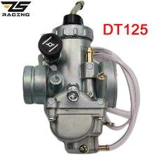 Zs racing 28mm carburador da motocicleta para a bicicleta sujeira yamaha dt125 dt 125 suzuki tzr125 rm65 rm80 rm85 dt175 rx125