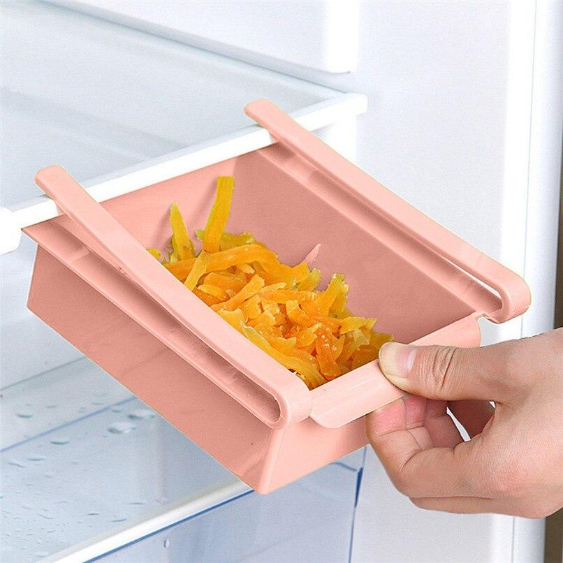 1PCS Kitchen Organizer Shelf Kitchen Refrigerator Space Saver Organizer Shelf Fridge Organizer Box Rack cocina organizador D13 (18)