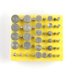 Image 3 - Broca rotativa revestida, 50 unidades/lotes 3mm ponta de diamante queimado cabeçote para dremel ferramentas rotativas diy ferramentas