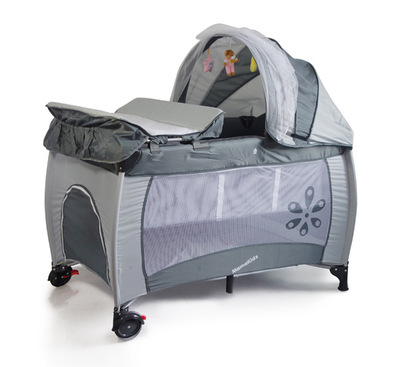 Multifunctional baby bed Newborn crib with diaper table folding portable game bed  send Mosquito net diaper table