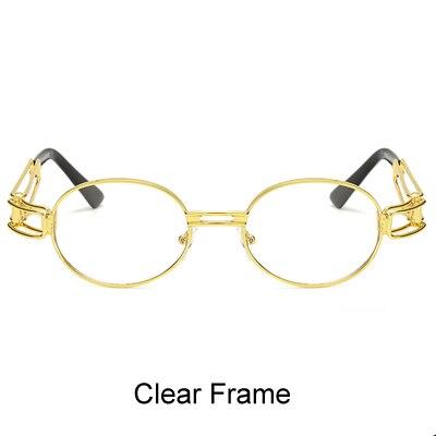 fb65b0f5b7 Ralferty 2017 Retro Small Round Sunglasses Men Male Vintage Steampunk  Sunglass Women Hip Hop Gold Glasses Eyewear UV400 lunette