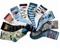 Nueva moda niños de dibujos animados bebé calcetines de algodón adecuados a la edad 6-9 años de edad