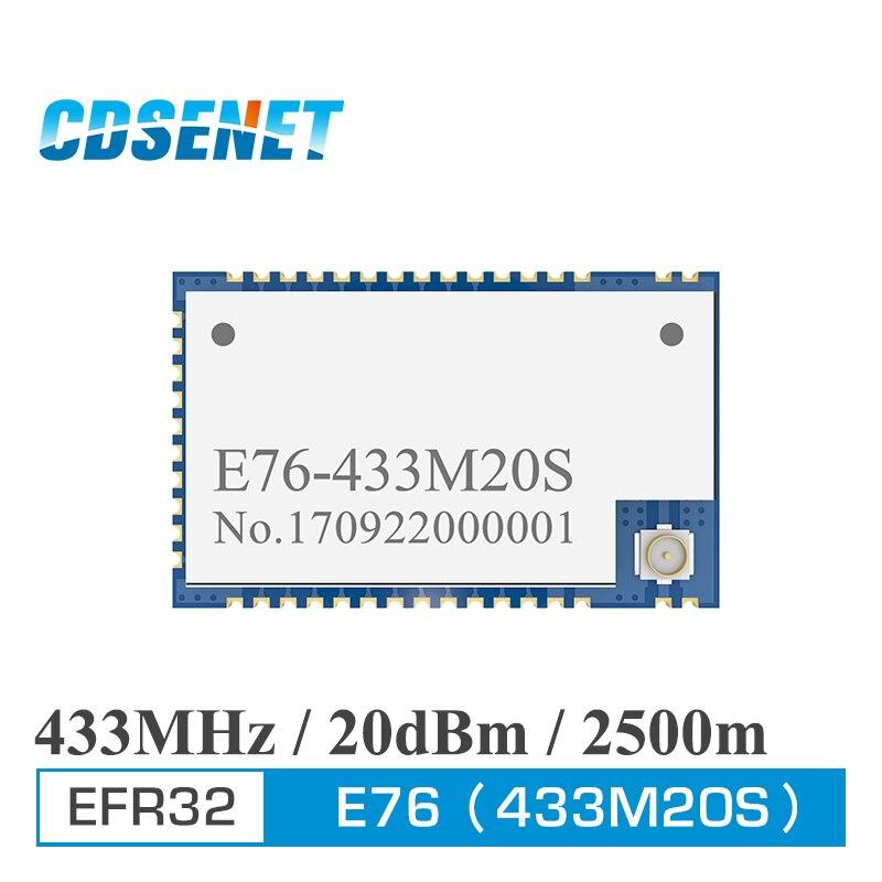 EFR32 433MHz 100mW SMD Wireless Transceiver E76-433M20S Long Range 20dBm SOC ARM 433 MHz Transmitter Receiver Rf Module