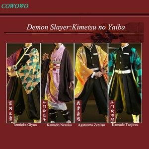 Image 1 - Anime! demon slayer: kimetsu não yaiba kamado tanjirou agatsuma zenitsu tomioka giyuu kamado nezuko quimono uniformes cosplay traje