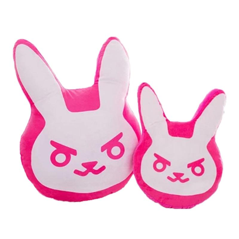 1pc 35cm/55cm Overwatches Game Plush Pillows Pioneer Dva Rabbit Plush Pillow Cushion Toys Soft Stuffed Animals Cosplay Kids Toys