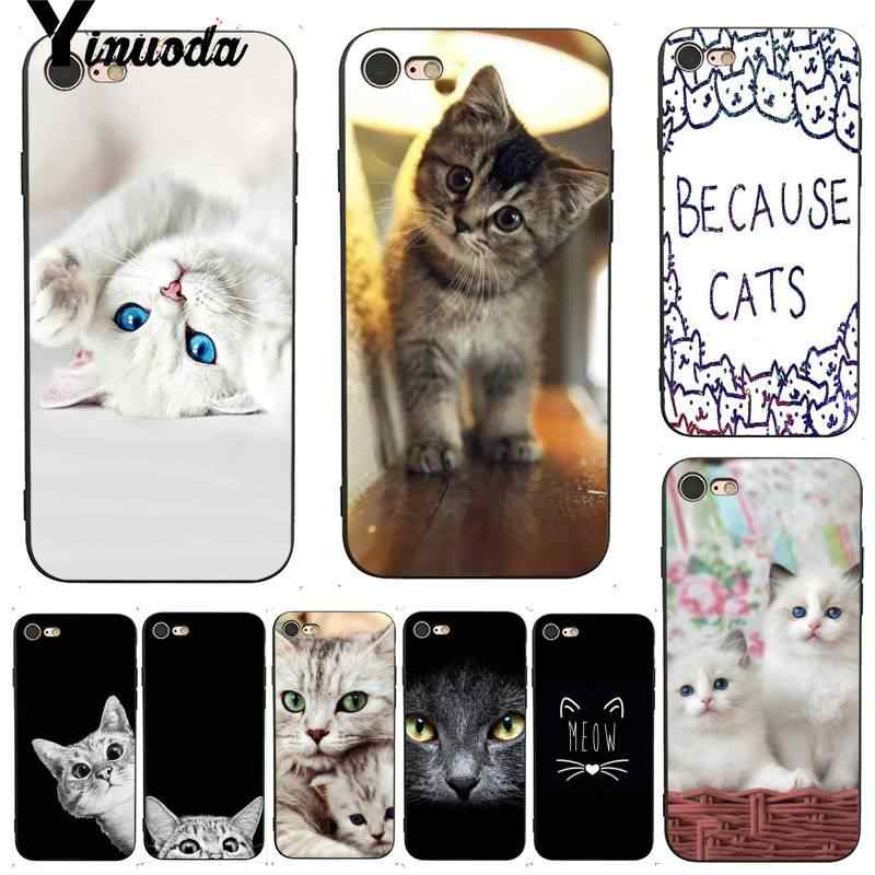 Yinuoda For Iphone 7 6 X Case Meow Beautiful Cute Cat Kitty