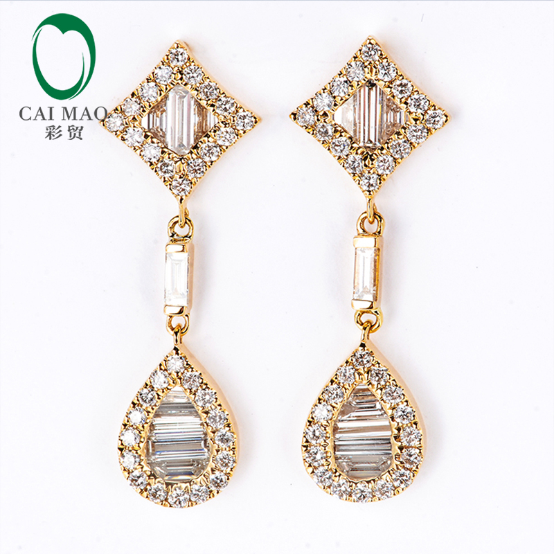 Bridal & Wedding Party Jewelry Engagement & Wedding Smart Oval 7x5mm Si Diamonds Semi Mount Earrings Setting Jewelry Solid 18k Yellow Gold
