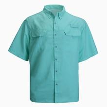 Мужская рубашка для рыбалки, Спортивная рубашка с коротким рукавом, одежда для рыбалки, мужские походные рубашки, быстросохнущая рубашка UPF40, плюс размер США 3XL, Camisa