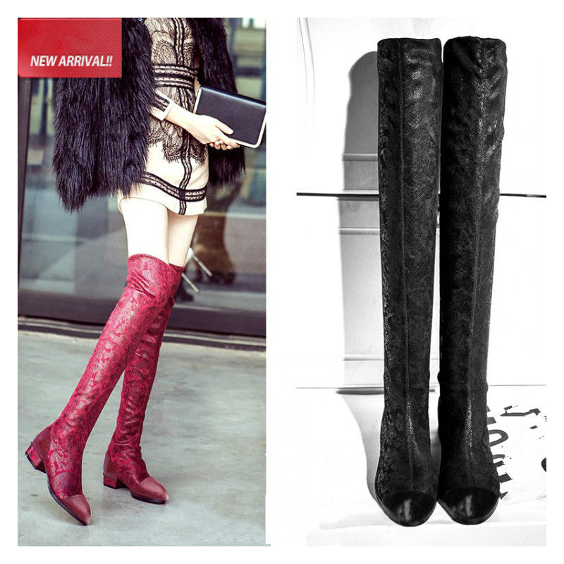 Slim Fit Knee High Boots Promotion-Shop for Promotional Slim Fit ...