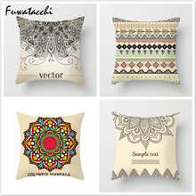 Fuwatacchi India Religion Style Cushion Cover Elephant Flower Printed Pillow Throw Pillows Decorative for Sofa Car