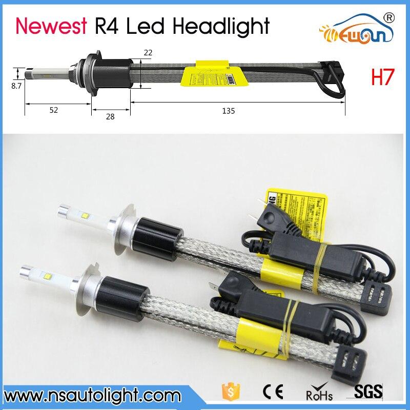 ФОТО 1 Set H7 60W 7200lm P hilips MZ Auto Car Led Headlight Driving Light Kit 3000K 4000K 5000K 6000K Xemon White Bulb Cooler Belt