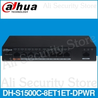 Dahua DH S1500C 8ET1ET DPWR PoE Switch 8CH Ethernet Power Switch Support 802.3af 802.3at POE POE+ Hi PoE Power Standard