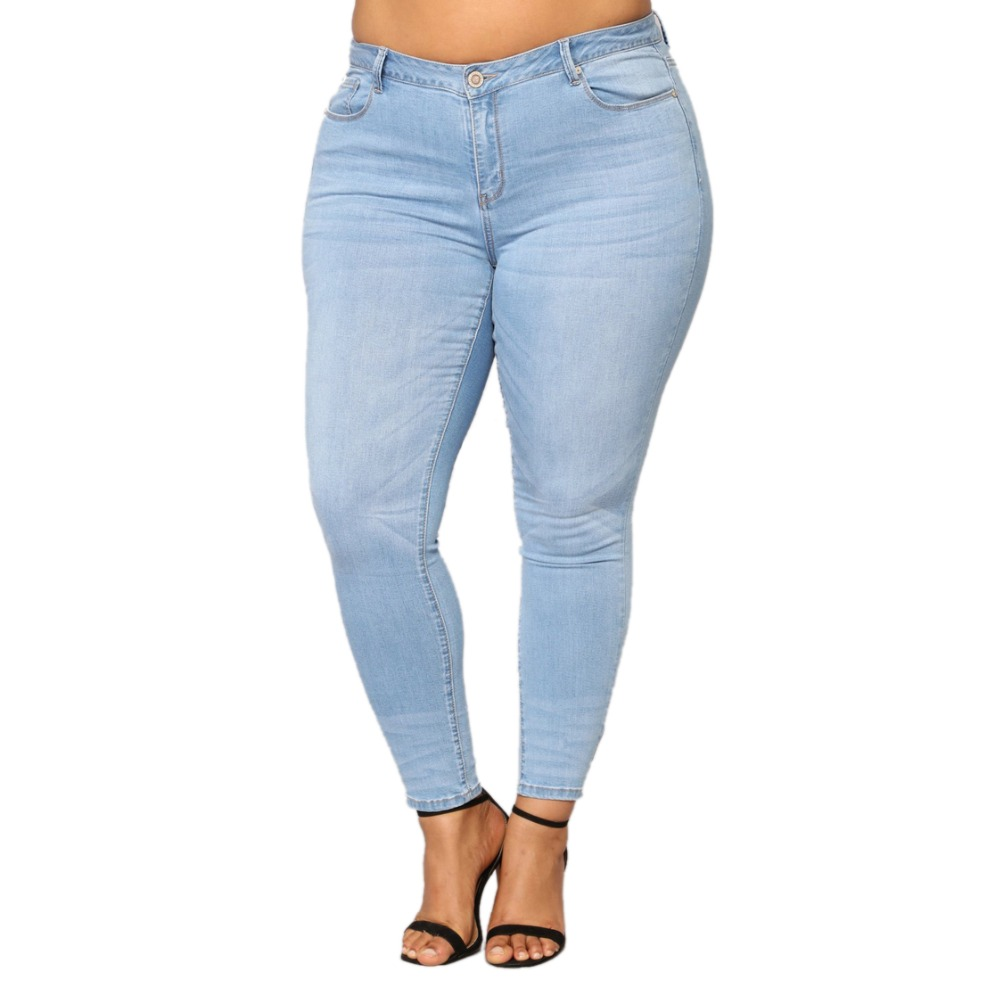 Woman Shaping Hip Jeans Edition High Stretchy High Waist Shaping Sexy Peach Hip Pants Tight Trouser Fashion Plus Size 6XL 7XL