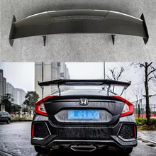 MAD style High Quality Carbon Fiber Auto Part Rear Trunk Spoiler fit for Honda Civic 4 Door 2016 2017 2018 high quality 28260 rpc 004 transmission dual linear solenoid for honda civic fit 07 08