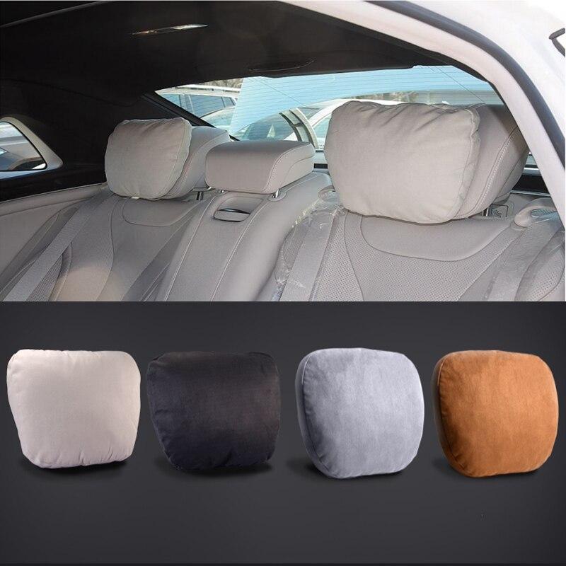 JOYSILIN Car Seat Headrest Breathable Neck Pillow Head Support For Benz Amg Logo Gle Gls Ml Glk Cls Gla Cla A B Class W204 W211 W210 W205 W212 W213