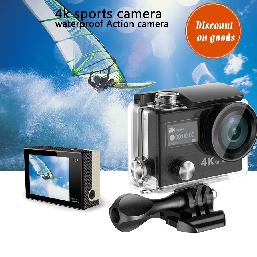 2016 Action Camcorder 4k f60 sport camera helmet camera sport wifi Ultra HD 4 waterproof action camera H8R video camera helm