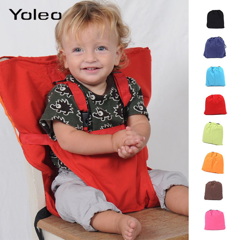 Portable Baby Seat Kids Chair Travel Foldable Washable Infant Baby Lunch Dinning Cover Seat Saftety Belt Feeding High Chair