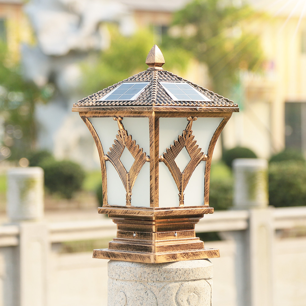 solar powered pillar lights outdoor post cap lamp waterproof yard column lights aluminum landscape lighting 15 x 15 / 19 x 19 cmsolar powered pillar lights outdoor post cap lamp waterproof yard column lights aluminum landscape lighting 15 x 15 / 19 x 19 cm