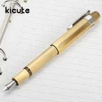 Kicute Classic Design Metal Brass Extra Fine 0 38mm Nib Fountain Pen With Gift Box Screw
