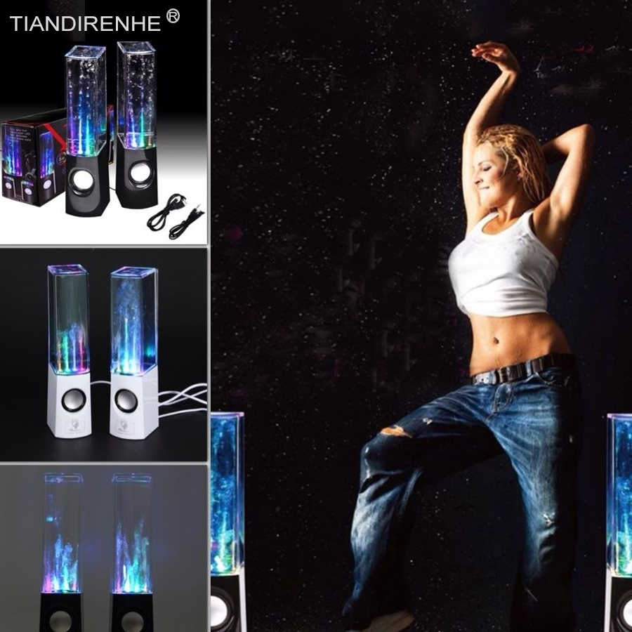 Dancing Water Column Speaker Active Portable Mini USB LED Sound box for iphone ipad PC MP3 Desktop Computer Subwoofer Speakers