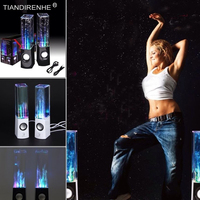 Dancing Water Speaker Active Portable Mini USB LED Light Speaker For Iphone Ipad PC MP3 MP4